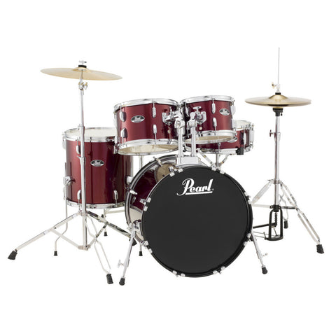Pearl Roadshow 5 Piece American Fusion Drum Kit Wine Red