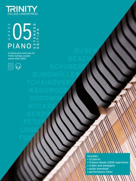 Trinity College London Piano Exam Pieces & Exercises 2021-2023 Grade 5 Extended Ed