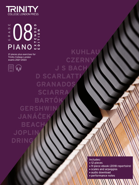Trinity College London Piano Exam Pieces & Exercises 2021-2023 Grade 8 Extended Ed