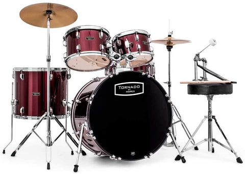"Mapex Tornado 2 Fusion Kit 18"" with Cymbals Red"
