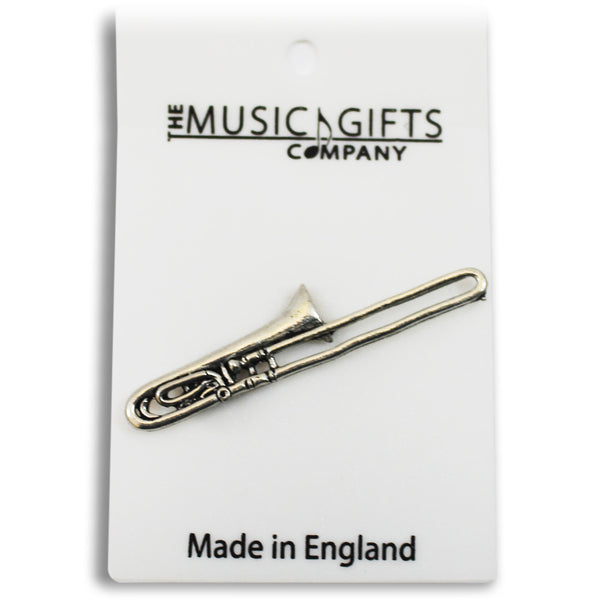 Pewter Trombone Pin Badge