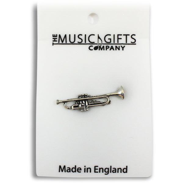 Pewter Trumpet Pin Badge