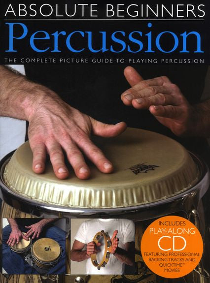 Absolute Beginners Percussion Book and CD