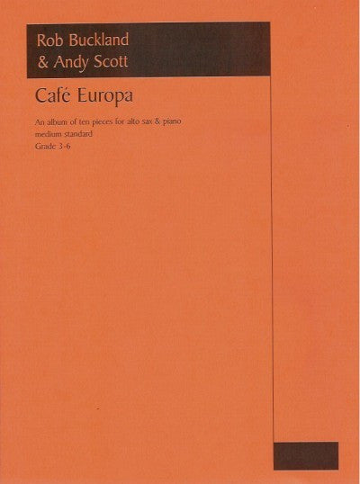 Cafe Europa For Alto Saxophone And Piano
