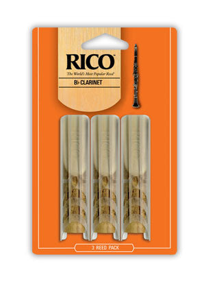 Rico 3 Pack Clarinet Reeds Strength 2.5