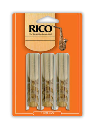 Rico 3 Pack Tenor Sax Reeds Strength 2.5