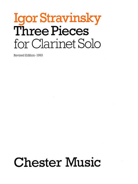 Stravinsky Three Pieces For Clarinet Solo