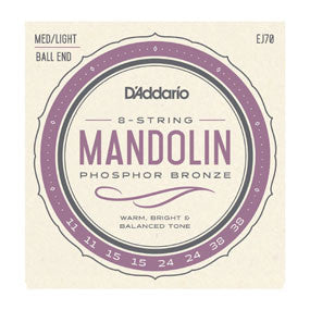 D'Addario EJ70 Mandolin Strings Ball End