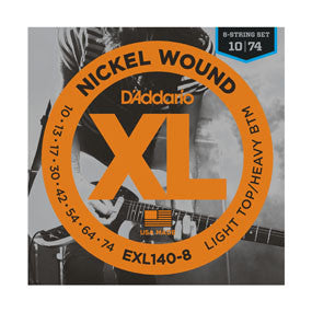 D'addario EXL140 8 String Light Top/Heavy Bottom Strings