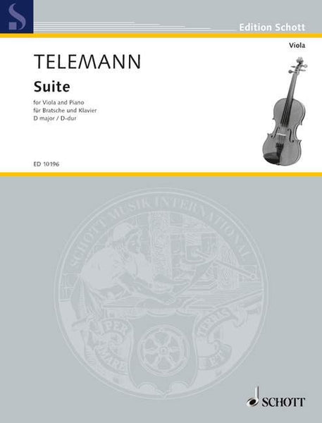 Telemann Suite In D For Viola