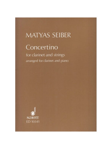 Seiber Concertino For Clarinet