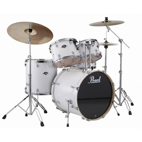 Pearl Export EXX Arctic Sparkle Drum Kit with cymbals