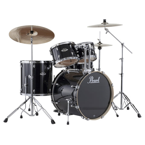 Pearl Export EXX Jet Black Drum Kit with cymbals