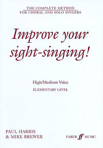 Improve Your Sight Singing Elementary Level High Voice