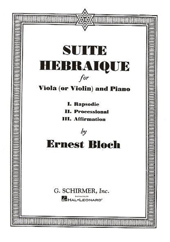 Bloch Suite Hebraique Viola
