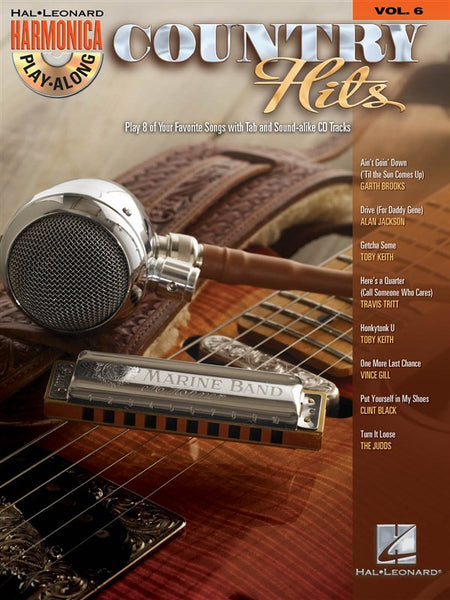 Harmonica Play-Along Volume 6 Country Hits