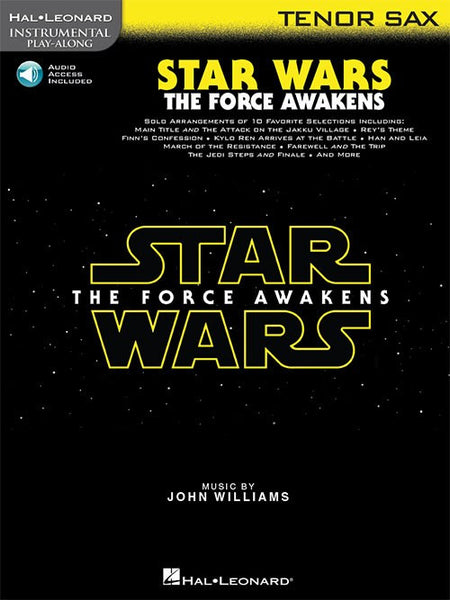Star Wars The Force Awakens for Tenor Sax Book and Online Audio