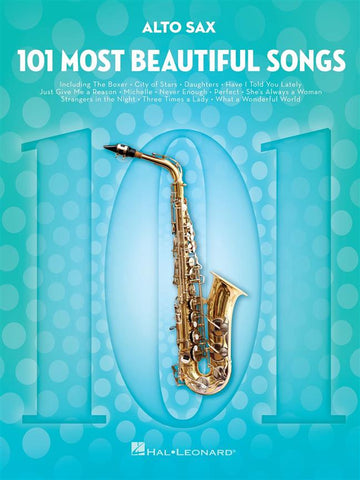 101 MOST BEAUTIFUL SONGS ALTO SAX