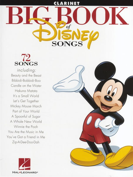 The Big Book Of Disney Songs Clarinet