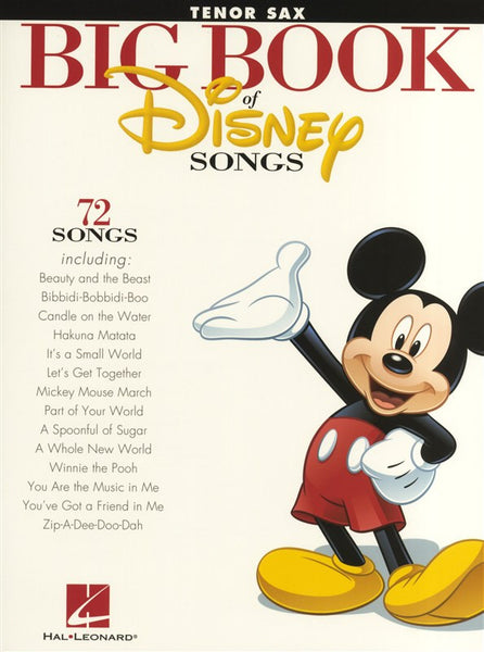 The Big Book Of Disney Songs Tenor Saxophone