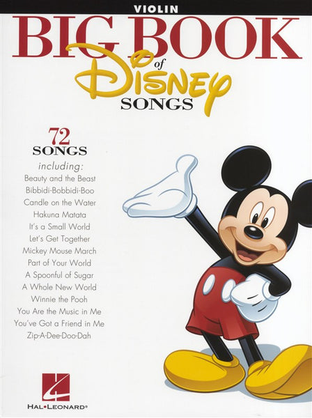 The Big Book Of Disney Songs Violin