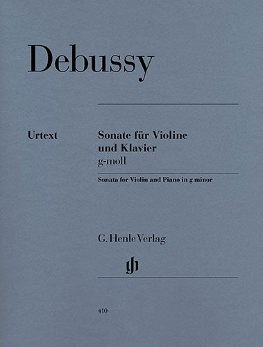 Debussy: Sonata For Violin And Piano In G Minor