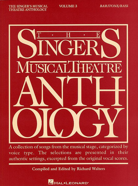The Singers Musical Theatre Anthology Volume Three Baritone Or Bass