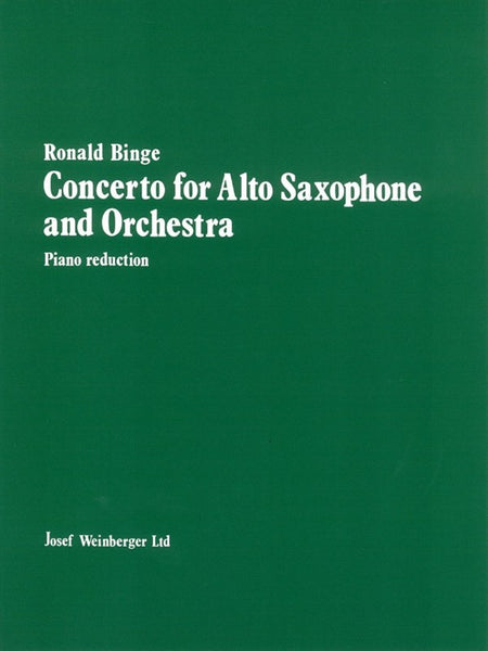 Binge Concerto For Alto Saxophone And Orchestra