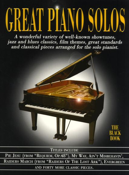 Great Piano Solos Black