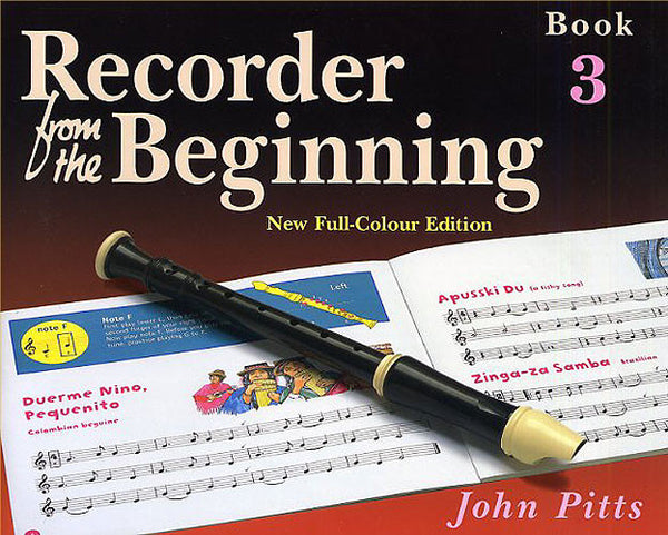 Recorder From The Beginning (John Pitts) Pupil's Book 3