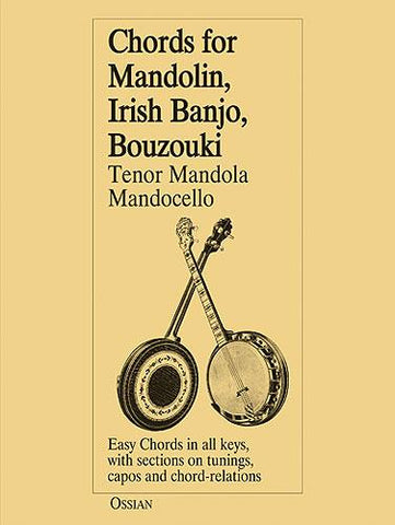 CHORDS FOR MANDOLIN, IRISH BANJO, BOUZOUKI