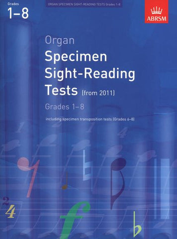 ABRSM Organ Specimen Sight-Reading Tests Grades 1-8