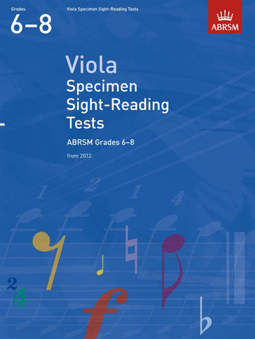 ABRSM Viola Specimen Sight-Reading Tests Grades 6-8 From 2012