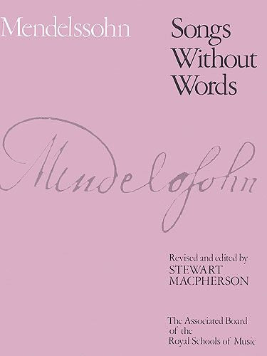 Mendelssohn Songs Without Words Book 1