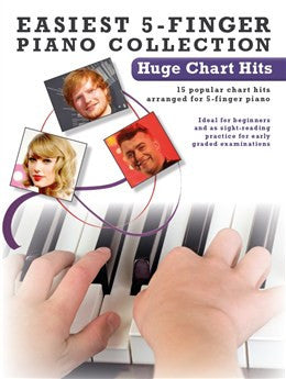 Easiest 5 Finger Piano Huge Chart Hits