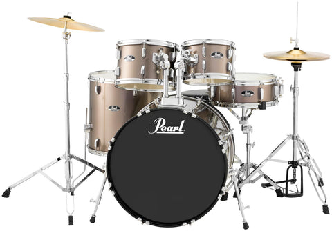 "Pearl Roadshow 5 Piece 18"" Drum Kit Bronze Metallic"