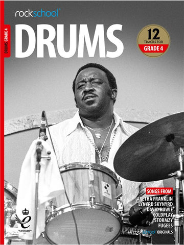 Rockschool Drums Grade 4 2018+ Book/Audio