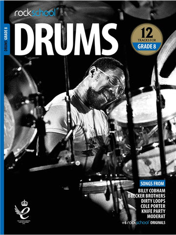 Rockschool Drums Grade 8 2018+ Book/Audio