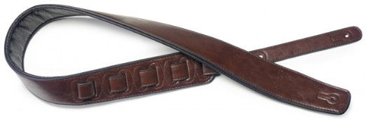 Stagg SPFL30 Padded Leather Strap Brown
