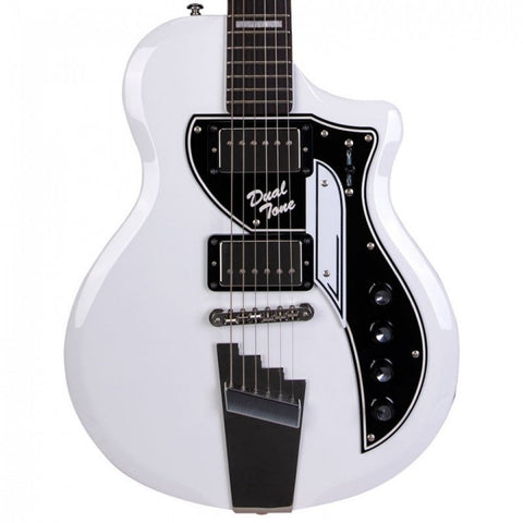 Supro Limited Edition David Bowie 1961 Dual Tone Hard Tail, White