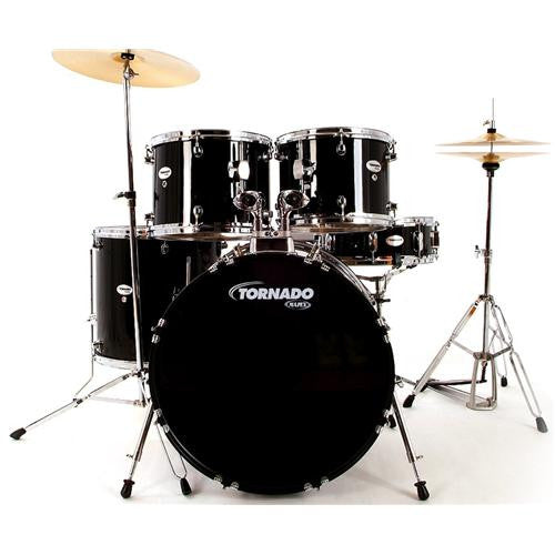 "Mapex Tornado 2 Fusion Kit 18"" with Cymbals Black"