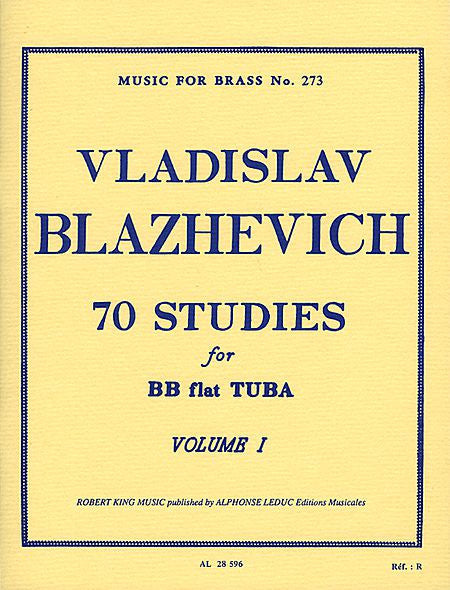 Blazhevich: 70 Studies For BB Flat Tuba Volume One
