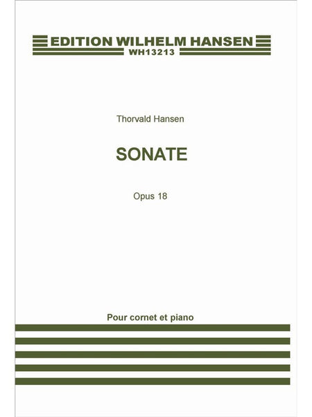 Hansen Sonata For Trumpet/Cornet And Piano Op.18