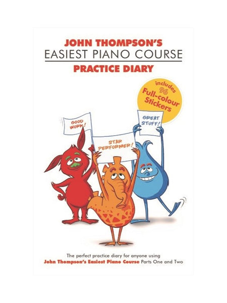 THOMPSON EASIEST PIANO COURSE PRACTICE DIARY