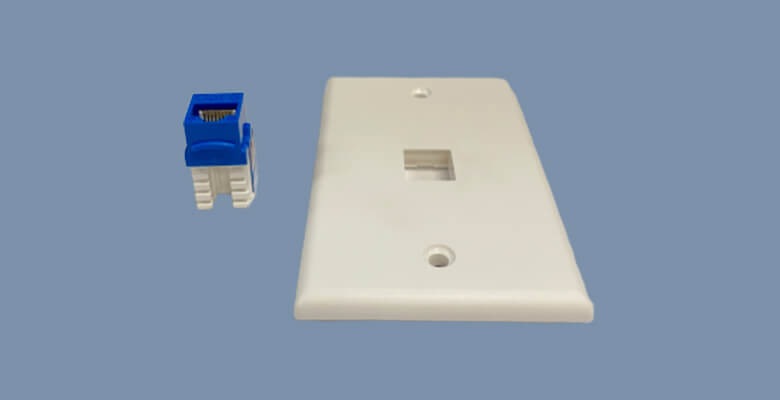 how to attach a keystone jack to wall plate