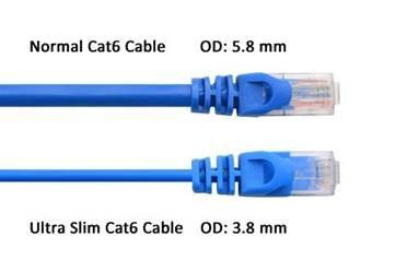 Cat6 slim 28awg patch cord
