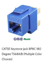 cat5e keystone jack 180 degree