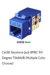 cat5e cmp keystone jack 90 degree
