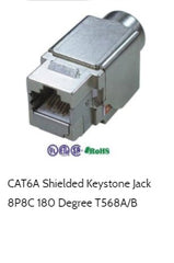 cat6a shielded keystone jcak 180 degree