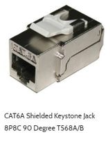 cat6a shielded keystone jack 90 degree